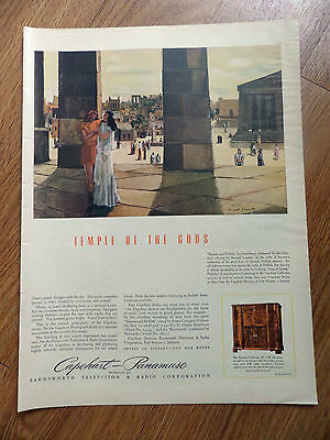 1944 Capehart Radio Phonograph Ad Samson & Delilah Temple of the Gods by Lamotte