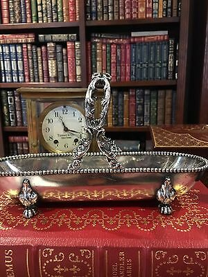 Antique Barbour Silver Company Quadruple Plate Basket/Relish: Estate Fresh
