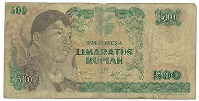 Indonesia 500 Rupiah, 1968 - Circulated Condition, Please See Scans