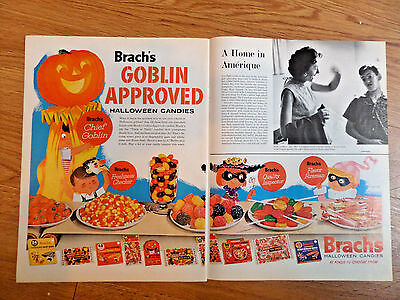 1961 Brach's Candy Ad   Goblin Approved Halloween Candies
