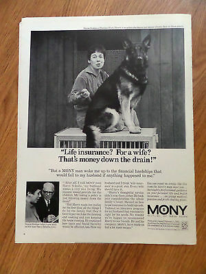 1968 Ad German Shepherd Dog Life Insurance for a Wife?