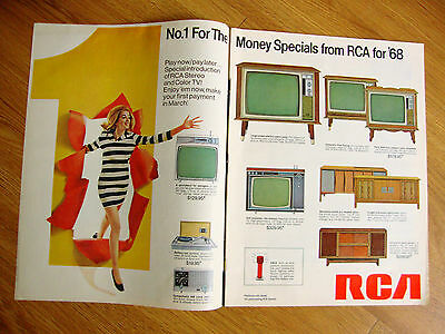 1968 RCA TV Television Ad No 1 For the Money Specials from RCA for '68
