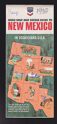 Chevron Oil Co Road Map and Scenic Guide to New Mexico in Scenicland USA 1966