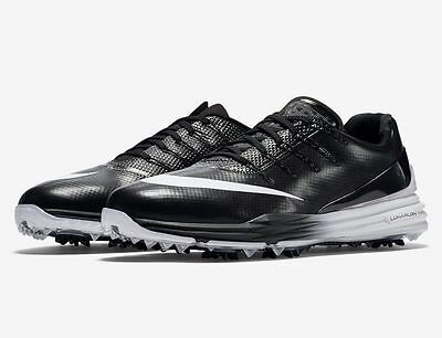 Nike Lunar Control 4 Mens Golf Shoes Spikes WIDE Size 7 & 10 Black 819036