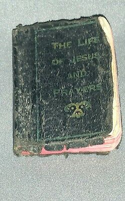 Vintage Child's Bible The Life of Jesus 1½x2 inch Miniature Religious Book 1932