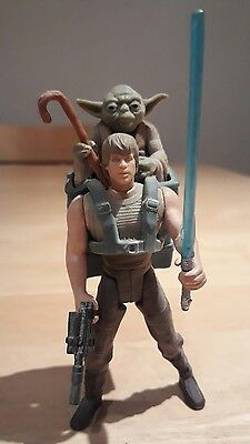 Vintage Star Wars Power of the Force Luke Skywalker and Yoda Action Figures 1995