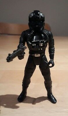 "Vintage Star Wars Power of the Force Tie Fighter Pilot 4"" Action Figure 1995"