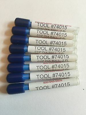 """1/64"""" (.015"""") diameter 2 Flute Ball End Mill (LOT OF 8 pieces BRAND NEW)"""