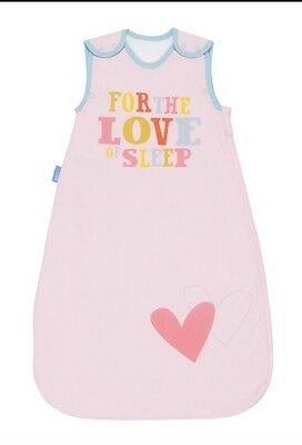 New Girls Pink Blue Love Of Sleep Heart Grobag Age 0-6 Months 2.5 Tog Baby