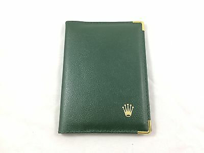 Rolex leather wallet, passport holder - green, circa late 1990s