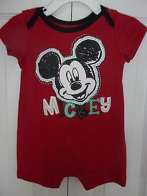 Disney Baby Mickey Mouse One Piece Outfit Romper Size 3-6 months