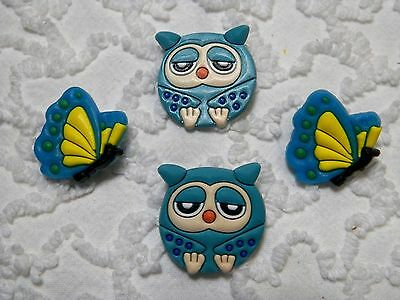 C 641 US Seller Owl & Butterfly Clog Plug Shoe Charms Will Also Fit Jibitz,Croc