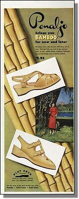 1950 Penaljo's Bamboo Colored Casual Shoes Print-Ad