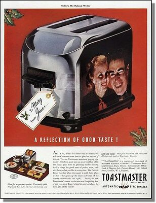 1938 Reflections in a toaster - Toastmaster Christmas print-ad
