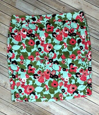 Lane Bryant Women's Floral Stretch Straight Pencil Skirt Casual Size 22