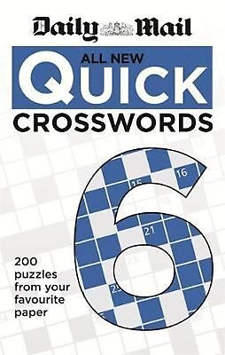 Daily Mail All New Quick Crosswords 6 by Daily Mail Paperback Book Free Shipping