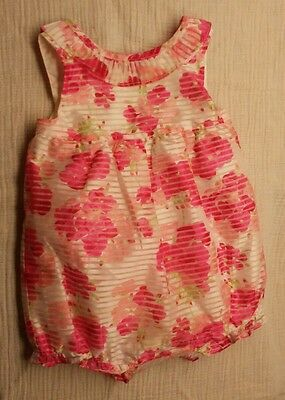 "Gymboree Baby Girl size 6-12 months Romper ""Dressed Up"" Floral"