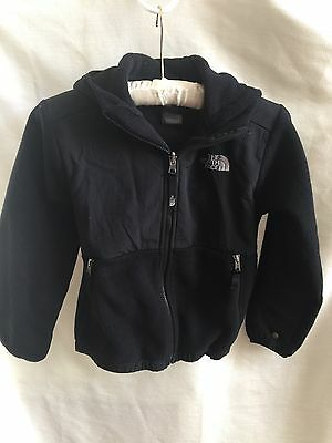 childrens north face jacket black fllece small 7/8