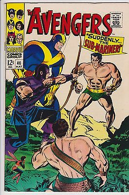 Avengers #40 (May 1967, Marvel) F Vs Namor Cosmic Cube Silver Age F5