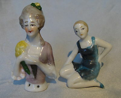 LOT 2~ANTIQUE GERMAN*BATHING BEAUTY/BELLE*GERMANY and HALF DOLL/PIN CUSHION DOLL