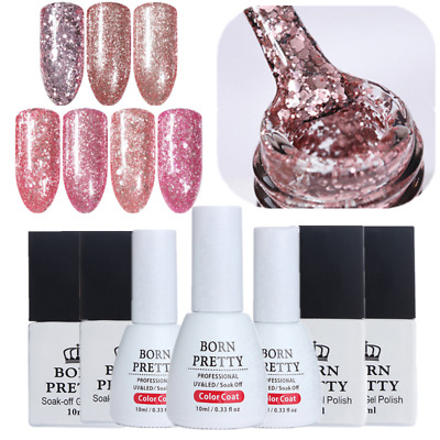 10ml Nail UV Gel Polish Soak Off Glitter Sequins Nail Art UV Gel Born Pretty
