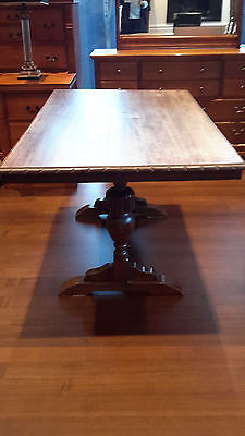 Antique Vintage ART DECO  style dining table Hardwood Jacobean style table