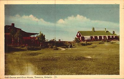 Postcard Golf Course And Club House Timmins Ontario