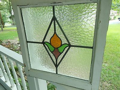 MA10-207C Very Pretty Older Leaded Stained Glass Window From England