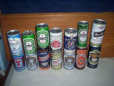 Lot of 14 Vintage & Modern Collectable Beer Cans : Newcastle Tennents Busch ETC