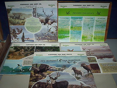 5 Remington Gun Calendars Lot Parkinson Gun Shop London 1978 1979 1980 1981 1982