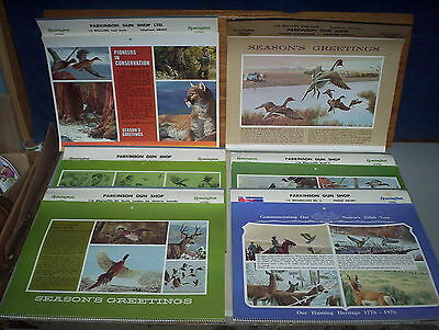 6 Remington Gun Calendars Parkinson Gun Shop London 1972 1973 1974 1975 1976 77