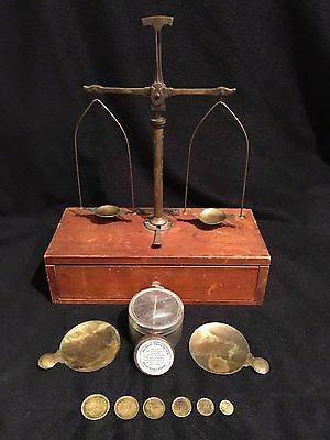 Vintage Henry Troemner Complete Original Apothecary Measuring Scale - No Reserve
