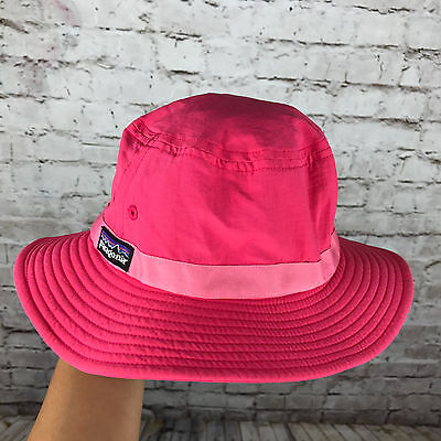 CUTE Summer Patagonia Hot Pink Floppy Sun Hat Kids-Girl's Small, EXCELLENT