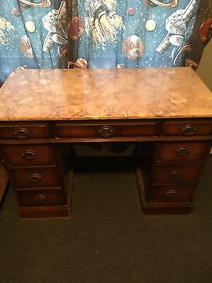 Antique Desk With Marble Top