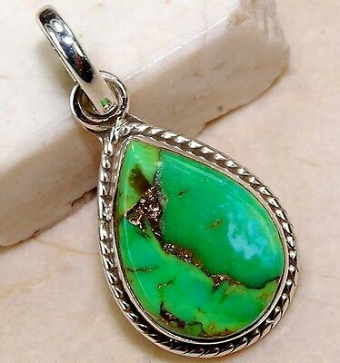 Copper Arizona Turquoise 925 Solid  Sterling Silver Pendant Jewelry, S5-4