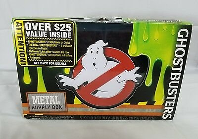 Ghostbusters Lunchbox Metal Supply Box With FREE Digital Cartoon Movie Codes
