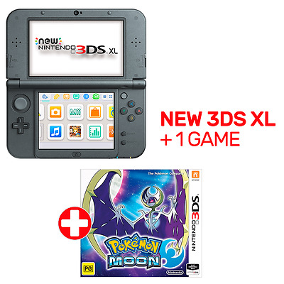 New Nintendo 3DS XL Console Black + 1 Game - Nintendo 3DS - BRAND NEW