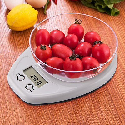 5 Kg Digital Kitchen Scale Lcd Electronic Cooking Food Measuring Bowl Scale