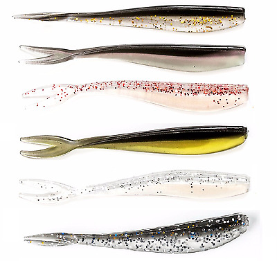 24x 70mm Soft Plastics Fishing Lures for BREAM BASS FLATHEAD Soft Plastic Lure