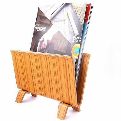 Bentwood Wooden Magazine File Book Rack Stand Holder Office Home Organizer
