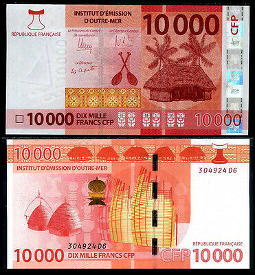 French Pacific Territories 10000 10,000 Francs 2014 P 8 Unc