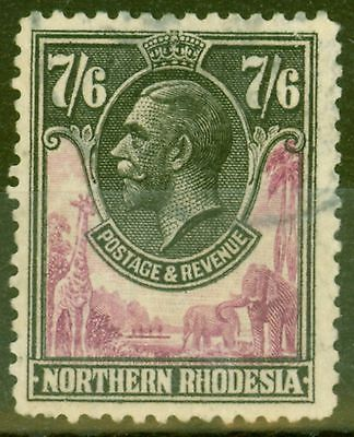Northern Rhodesia 1925 7s6d Rose-Purple & Black SG15 Fine Used