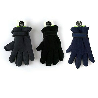2 Pcs MEN MENS WINTER Thermal INSULATION FLEECE GLOVES Polar Lined Full Finger