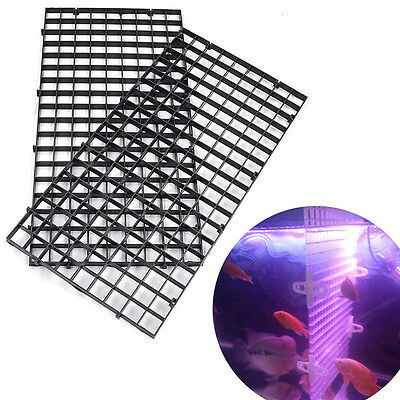 Aquarium White Black Isolation Plastic Filter Mesh Plate Fish Tank Supplies