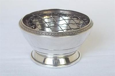 A Fine Sterling Silver Footed Rose Bowl Birmingham 1967 By Cohen & Charles.