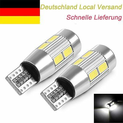 2PCS LED T10 Canbus SMD W5W Lampen Standlicht innenraumbeleuchtung Error Free