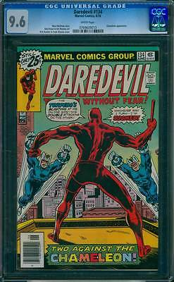 Daredevil # 134  Two Against the Chameleon !  CGC 9.6  scarce book !