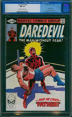 Daredevil # 164  And He Cries...Father ! Frank Miller ! CGC 9.4  scarce book !