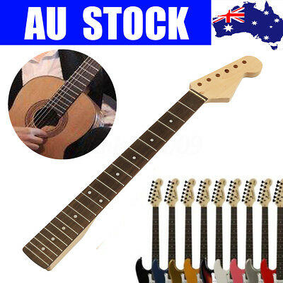 22 Fret Guitar Neck For Jazz Guitar Parts Replacement Maple Rosewood Fingerboard