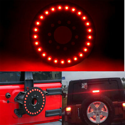 Spare Tire 25 LED Lamp Wheel Rear 3rd Brake Light For Jeep JK Wrangler Red